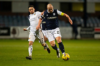 29th December 2020; Dens Park, Dundee, Scotland; Scottish Championship Football, Dundee FC versus Alloa Athletic; Charlie Adam of Dundee goes past Kevin Cawley of Alloa Athletic