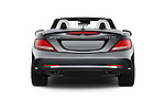 Straight rear view of 2018 Mercedes Benz SLC-Roadster AMG-SLC43 2 Door Convertible Rear View  stock images