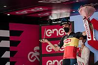Belgian National Champion Dries De Bondt (BEL/Alpecin-Fenix) wins the overall combativity price<br /> <br /> 104th Giro d'Italia 2021 (2.UWT)<br /> Stage 21 (final ITT) from Senago to Milan (30.3km)<br /> <br /> ©kramon