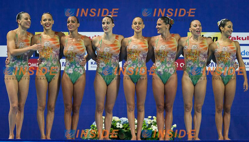 ITA - Italy<br /> BOZZO Elisa CALLEGARI Beatrice<br /> CATTANEO Camilla DEIDDA Francesca<br /> FLAMINI Manila GALLI Gemma<br /> PERRUPATO Mariangela SGARZI Sara<br /> Team Free Final<br /> Day8 10/07/2015<br /> XVI FINA World Championships Aquatics<br /> Synchro<br /> Kazan Tatarstan RUS July 24 - Aug. 9 2015 <br /> Photo Pasquale Mesiano/Deepbluemedia/Insidefoto