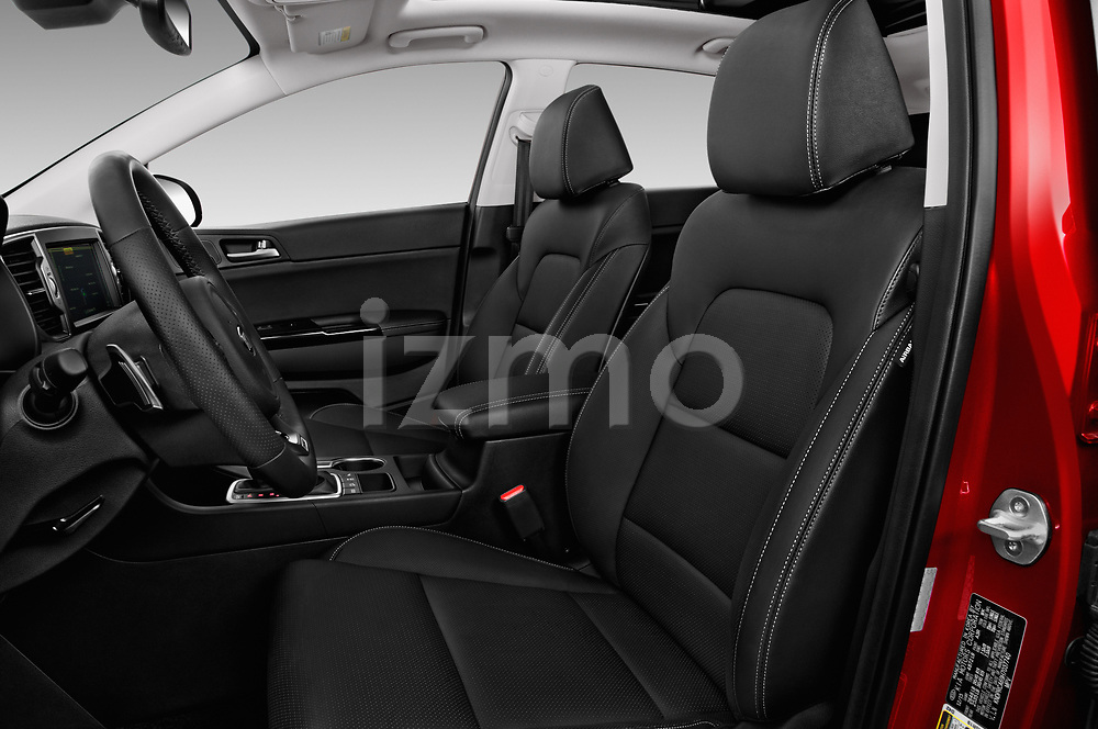 Front seat view of a 2019 KIA Sportage SX Turbo 5 Door SUV front seat car photos