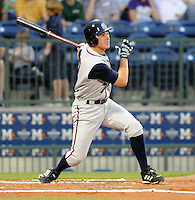 11 April 2008: Chris Rahl of the Mobile BayBears, Class AA affiliate of the Arizona Diamondbacks, in a game against the Mississippi Braves at Trustmark Park in Pearl, Miss. Photo by:  Tom Priddy/Four Seam Images