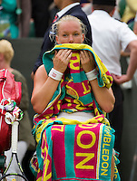 London, England, 2 July, 2016, Tennis, Wimbledon, Kiki Bertens (NED) during changeover<br /> Photo: Henk Koster/tennisimages.com