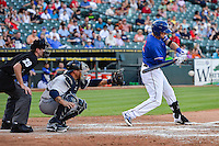 Round Rock Express third baseman Ryan Rua (12) bats during pacific coast league baseball game, Saturday August 16, 2014 in Round Rock, Tex. Tacoma Rainiers win game one of the best of four series 8-7. (Mo Khursheed/TFV Media via AP Images)