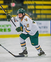 4 January 2014:  University of Vermont Catamount forward Kellie Dineen, a Senior from Faribault, MN, in action against the Syracuse University Orange, in non-conference play at Gutterson Fieldhouse in Burlington, Vermont. The Orange defeated the UVM Lady Cats 4-3 in their first ever NCAA meeting. Mandatory Credit: Ed Wolfstein Photo *** RAW (NEF) Image File Available ***