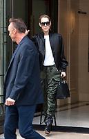 August 5 2017, Paris, France - Singer Celine Dion leaves the Royal Monceau Hotel on Avenue Hoche. # CELINE DION LEAVES 'ROYAL MONCEAU' IN PARIS