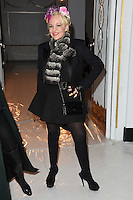 Daphne Guinness<br /> at the Jasper Conran AW17 show as part of London Fashion Week AW17 at Claridges, London.<br /> <br /> <br /> ©Ash Knotek  D3230  17/02/2017