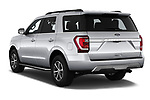 Car pictures of rear three quarter view of 2018 Ford Expedition XLT 5 Door SUV Angular Rear