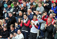 Swansea v Norwich, Liberty Stadium, Saturday 29th march 2014...<br /> <br /> <br /> <br /> Swansea city fans celebrate third goal