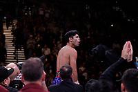 Boxers , Ryan Garcia, USA, and Romero Duno, USA, fight during their WBC Silver & NABO Lightweight Titles bout at the MGM Grand Garden on November 2, 2019 in Las Vegas, Nevada.  Garcia won a 1st round KO over Duno.  Referee was Tony Weeks. (Photo John Gurzinski/lasvegasphotography.com)