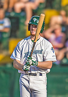 1 September 2013: Vermont Lake Monsters outfielder Billy McKinney in action against the Connecticut Tigers at Centennial Field in Burlington, Vermont. The Lake Monsters fell to the Tigers 6-4 in 10 innings of NY Penn League action. Mandatory Credit: Ed Wolfstein Photo *** RAW Image File Available ****