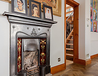 BNPS.co.uk (01202) 558833. <br /> Pic: UniquePropertyCompany/BNPS<br /> <br /> Pictured: Fireplace. <br /> <br /> Haus proud...<br /> <br /> A house designed in German Bavarian style in the south London commuter belt is on the market for £1.1m.<br /> <br /> Holly Lodge, a former pheasant shooting lodge and coaching inn, belonged to an engineer who fell in love with German architecture when he worked in the country.<br /> <br /> He bought and completely redesigned the building in the 1980s.<br /> <br /> The property, which is in the borough of Bromley, has four bedrooms, two bathrooms and two reception rooms.