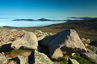 Cloud inversion beneath Meall a Bhuachaille from the Ben Macdui path, Cairngorm National Park, Badenoch & Speyside