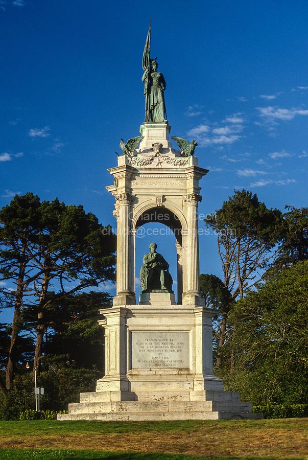 San Francisco, California, USA. Memorial to Francis Scott Key, Golden Gate Park.