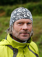 Frode Johannessen, winner of World BASE Race 2009. World BASE Race held in Innfjorden, Norway, where BASE jumpers in wingsuits compete in flying down the mountain. The winner is called the World's Fastest Flying Human Being..©Fredrik Naumann/Felix Features.