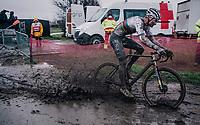 CX world champion Mathieu Van der Poel (NED/Alpecin-Fenix)<br /> UCI cyclo-cross World Cup Dendermonde 2020 (BEL)<br /> Men's Race<br /> <br /> ©kramon