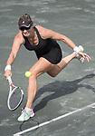 April 8,2017:   Mirjana Lucic-Baroni (USA) loses to Jelena Ostapenko (LAT) 6-3, 5-7, 6-4, at the Volvo Car Open being played at Family Circle Tennis Center in Charleston, South Carolina.  ©Leslie Billman/Tennisclix/Cal Sport Media