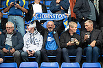 St Johnstone v Rangers…22.09.19   McDiarmid Park   SPFL<br />Saints fans pictured before kick off<br />Picture by Graeme Hart.<br />Copyright Perthshire Picture Agency<br />Tel: 01738 623350  Mobile: 07990 594431