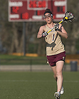 Brittany Wilton (BC 1) advances the ball. Boston College defeated Iona College, 19-5.