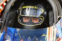 Jan 24, 2009; Chandler, AZ, USA; NHRA top fuel driver Shawn Langdon during testing at the National Time Trials at Firebird International Raceway. Mandatory Credit: Mark J. Rebilas-