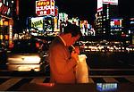 A man lights up a cigarette in Shinjuku, Tokyo. Japan.