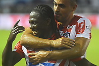 BARRANQUILLA -COLOMBIA ,20-07-2017.  Yimmi Chara jugador del Atlético Junior celebra su gol anotado al América de Cali durante encuentro  por la fecha 3 de la Liga Aguila II 2017 disputado en el estadio Metropolitano Roberto Meléndez de Barranquilla/ Yimmi Chara player of Atletico Junior celebrates his goal agaisnt of  America of Cali   during match for the date 3 of the Aguila League II 2017 played at Metropolitano Roberto Melendez in Barranquilla . Photo:VizzorImage / Alfonso Cervantes  / Cont