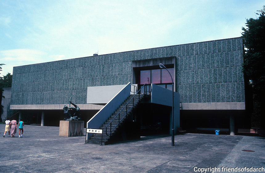 Le Corbusier: National Museum of Western Art, Tokyo 1959. Photo '81.