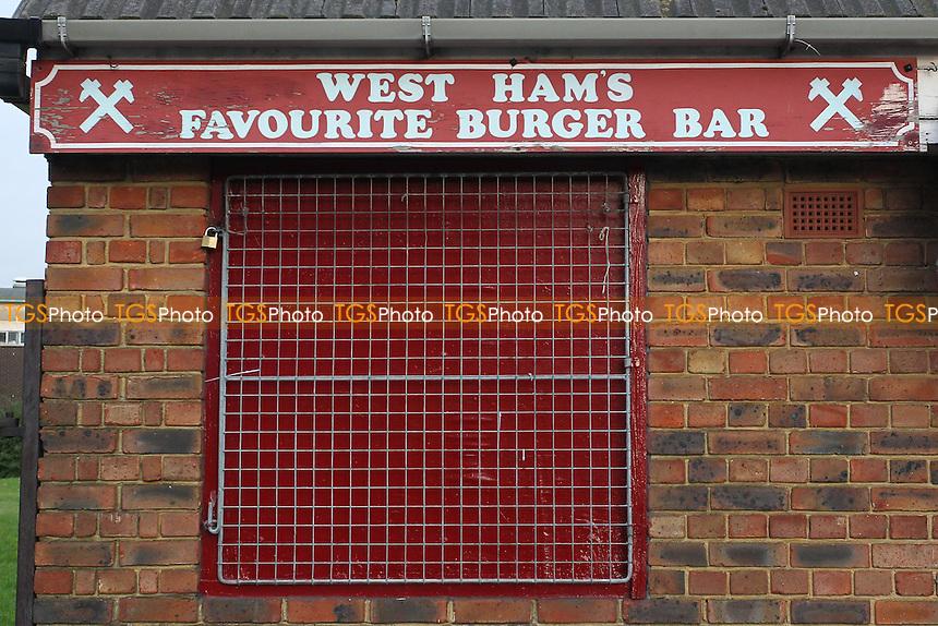 West Ham Favourite Burger Bar ahead of West Ham United Ladies vs Tottenham Hotspur Ladies, FA Women's Premier League Football at the Boleyn Ground, Upton Park
