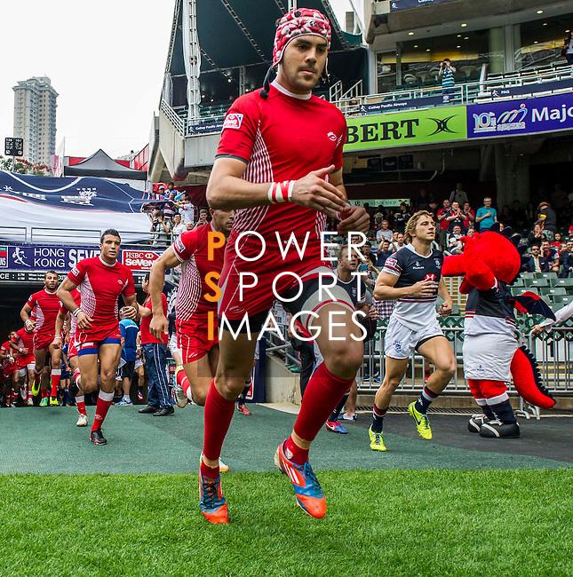 Italy vs American Samoa during the Cathay Pacific / HSBC Hong Kong Sevens at the Hong Kong Stadium on 28 March 2014 in Hong Kong, China. Photo by Victor Fraile / Power Sport Images