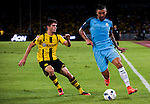 SHENZHEN - JULY 28: Manchester City defender Aleksandar Kolarov (r) fights for the ball with Borussia Dortmund midfielder Christian Pulisic (l) during the match between Borussia Dortmund vs Manchester City FC at the 2016 International Champions Cup China match at the Shenzhen Stadium on 28 July 2016 in Shenzhen, China. (Photo by Power Sport Images/Getty Images)