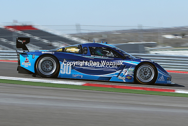Ricky Taylor (90), Driver of Spirit of Daytona Racing Corvette in action during the Grand-Am of the Americas practice and qualifying sessions at the Circuit of the Americas race track in Austin,Texas...