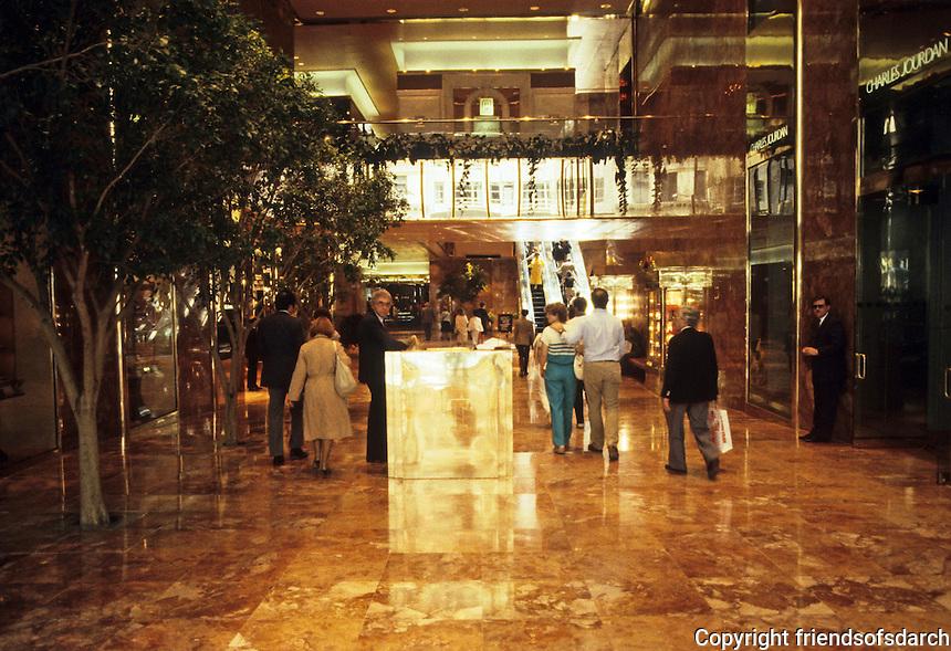 New York City:  Trump Tower--Lobby.
