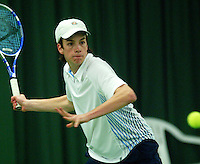 10-3-06, Netherlands, tennis, Rotterdam, National indoor junior tennis championchips, Philippe Oudshoorn