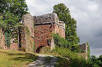 Staufische Ritterburg der Herren von Dürn Burg Wildenberg (Wildenburg)(12.Jh.) in Kirchzell im Odenwald, Bayern, Deutschland