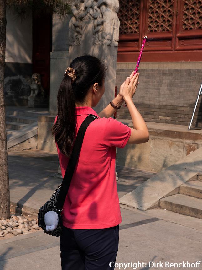 Daoistischer Baiyun Guan-Tempel in Peking, China, Asien<br /> daoistic Baiyun Guan temple, Beijing, China, Asia