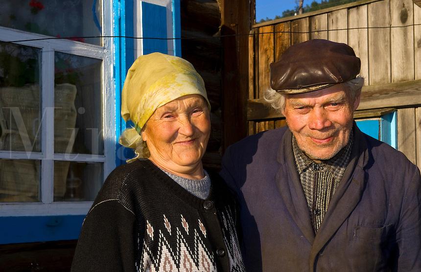 Farmers at homein Listvyanka, near  Irkutsk, Siberia, Russia