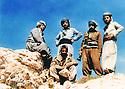 Iraq 1984 .Peshmergas of Kurdistan Socialist Democratic party ( KSDP ) on the top of the Surien mountain.Irak 1984 .Peshmergas du parti socialiste democratique du Kurdistan au sommet de la montagne Surien