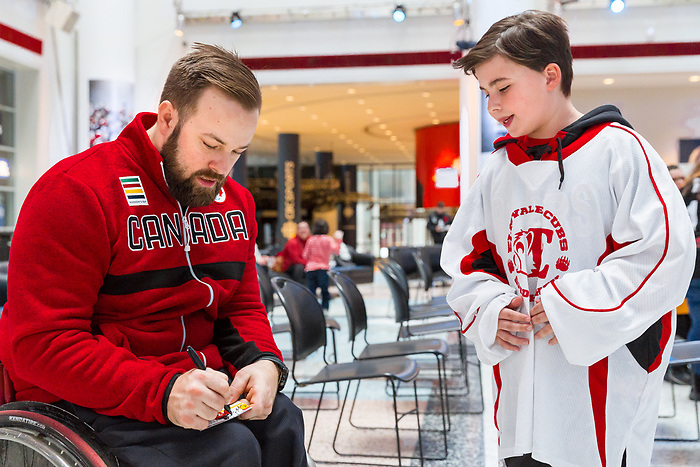 Billy Bridges, PyeongChang 2018. Para Ice Hockey // Para-hockey sur glace.<br />