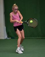 20131201,Netherlands, Almere,  National Tennis Center, Tennis, Winter Youth Circuit, Rixt van der Werff  <br /> Photo: Henk Koster