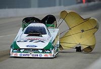 Nov. 13, 2011; Pomona, CA, USA; NHRA funny car driver Mike Neff during the Auto Club Finals at Auto Club Raceway at Pomona. Mandatory Credit: Mark J. Rebilas-.