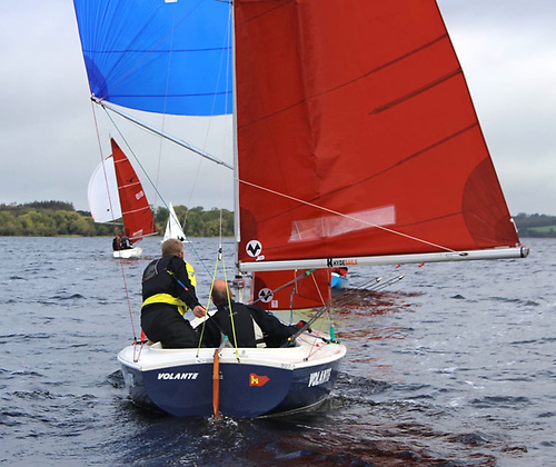 """Volante is another boat from Killyleagh on Strangford Lough – sailed by Simon Watson & """"Jordy"""", she place eighth overall."""