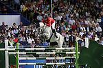 August 07, 2009: Laura Kraut (USA) in action aboard Cedric. Meydan FEI Nations Cup. Failte Ireland Horse Show. The RDS, Dublin, Ireland.