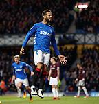 03.04.2019 Rangers v Hearts: Connor Goldson celebrates