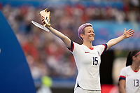 LYON, FRANCE - JULY 07: Megan Rapinoe during a game between Netherlands and USWNT at Stade de Lyon on July 07, 2019 in Lyon, France.