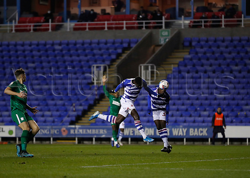 4th November 2020; Madejski Stadium, Reading, Berkshire, England; English Football League Championship Football, Reading versus Preston North End; Lucas Joao of Reading gets his header towards goal but was ruled offside