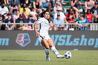 CARY, NC - SEPTEMBER 12: Rocky Rodriguez #11 of the Portland Thorns passes the ball during a game between Portland Thorns FC and North Carolina Courage at Sahlen's Stadium at WakeMed Soccer Park on September 12, 2021 in Cary, North Carolina.
