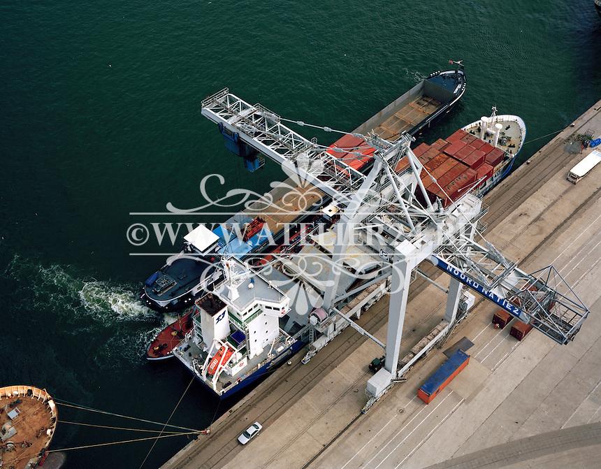 Juli 1996.  Noordnatie in de Haven van Antwerpen.