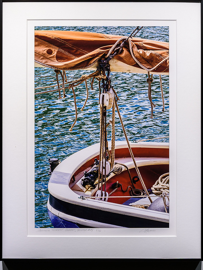 """Framed Size 18""""h x 14""""w $275<br /> Contrast Gray Nielsen 33 with acrylic glazing"""