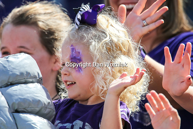 TCU Horned Frogs fans watch the action during the game between Iowa State Cyclones and the TCU Horned Frogs at the Amon G. Carter Stadium in Fort Worth, Texas.
