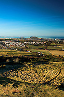 Edinburgh and Arthur's Seat from above Hillend, Caerketton, The Pentland Hills, The Pentland Hills Regional Park, Lothian